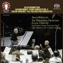 Artur Rubinstein/Eugene Ormandy/The Philadelphia Orchestra - Rachmaninov: Piano Concerto No. 2 & Saint-Saëns: Piano Concerto No. 2/Falla: Nights in the Gardens of Spain [SACD Hybrid Multi-channel]